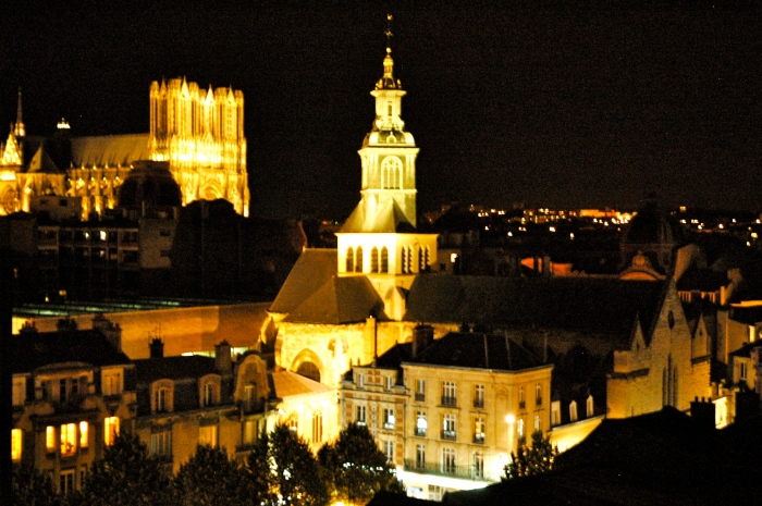 Reims cathedral from Hotel de la Paix
