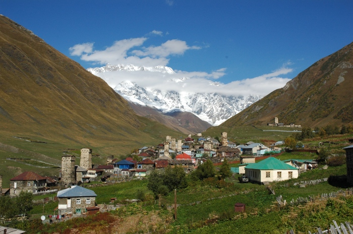 Ushguli in the High Caucasus mountains