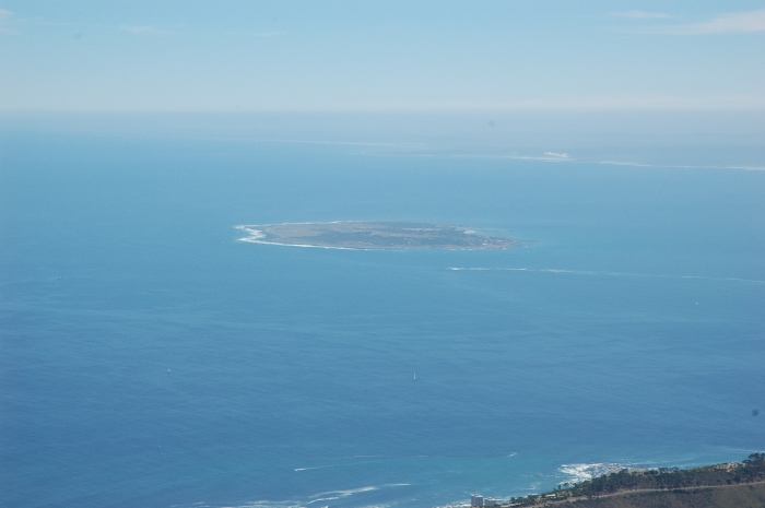 Robben Island from top of Table Mountain