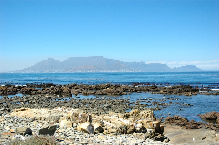 Table Mountain and Cape Town from Robben Island