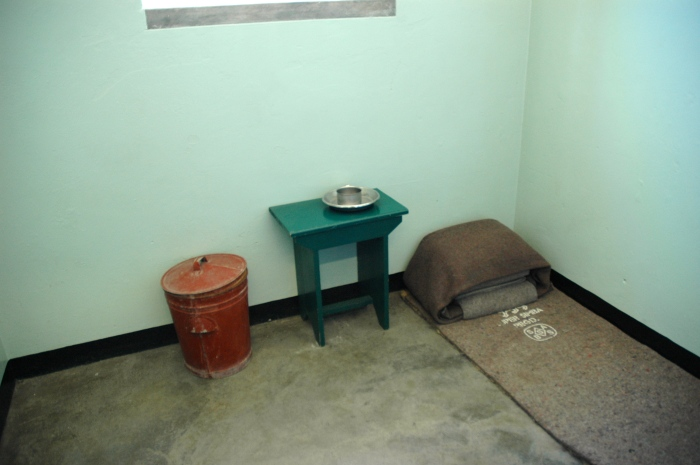 Nelson Mandela's cell in which he spent 18 years