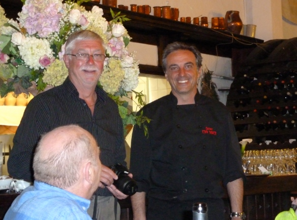 Martin Ward with Chef Tomeu