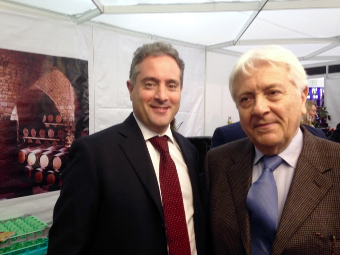 Ralph Hochar & his father (of Chateau Musar) at the London Wine Fair