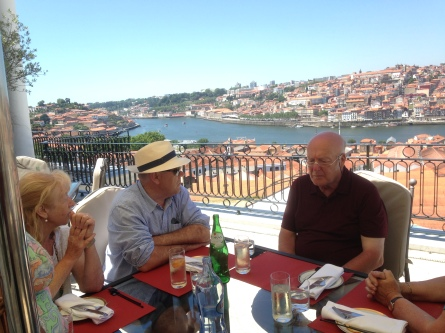 Lunch on the terrace at the Yeatman