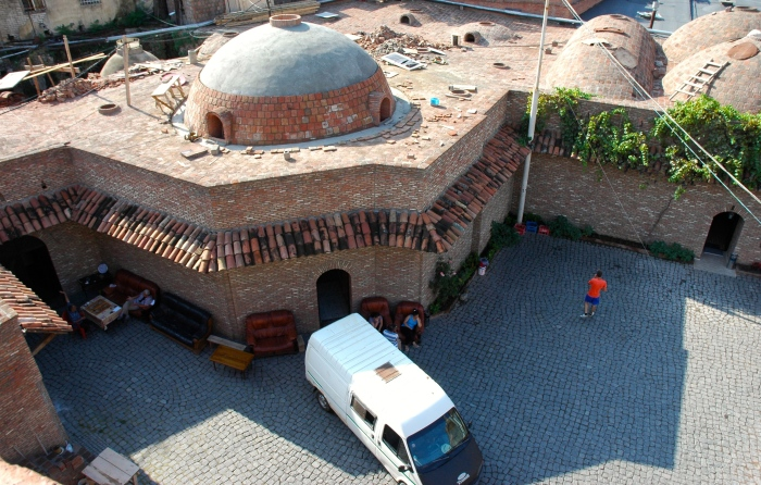 Domed sulphur baths next to the Old Tiflis