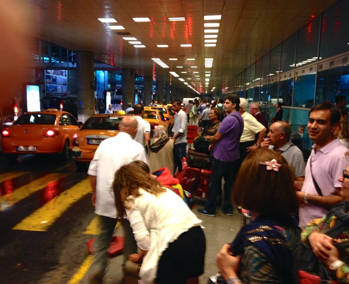 The chaos outside Ataturk Airport