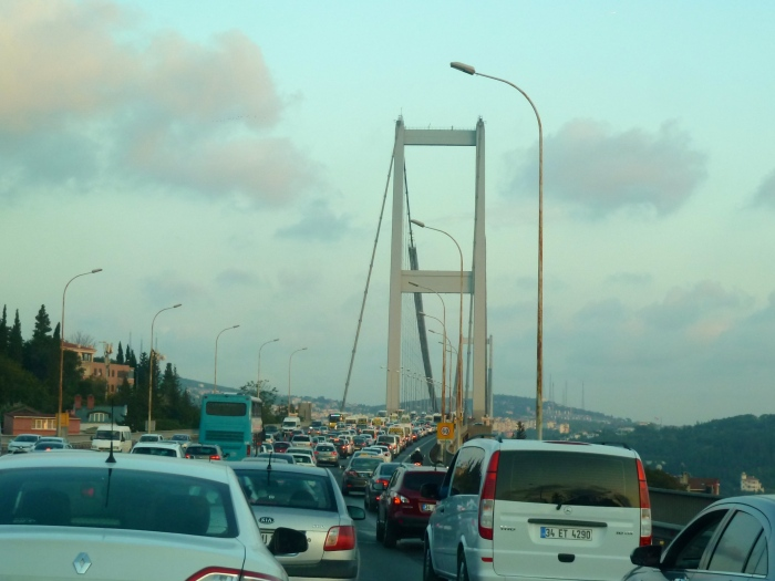 Traffic on Bosphorus Bridge
