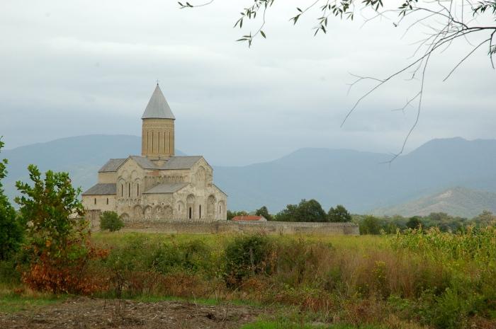 Alaverdi Monastery i white tuff stone