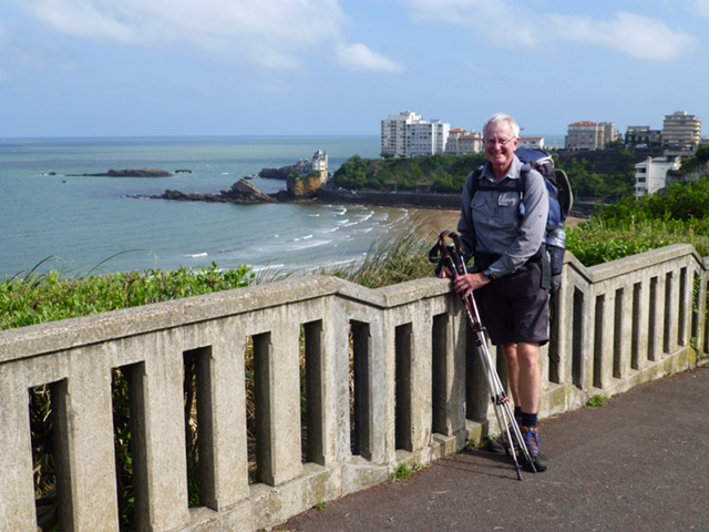 Leaving Biarritz, pre tick, on a lovely sunny day. The day before the rain had poured down all day!