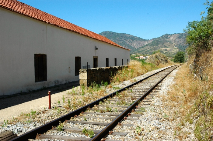 The railway line is just behind the winery
