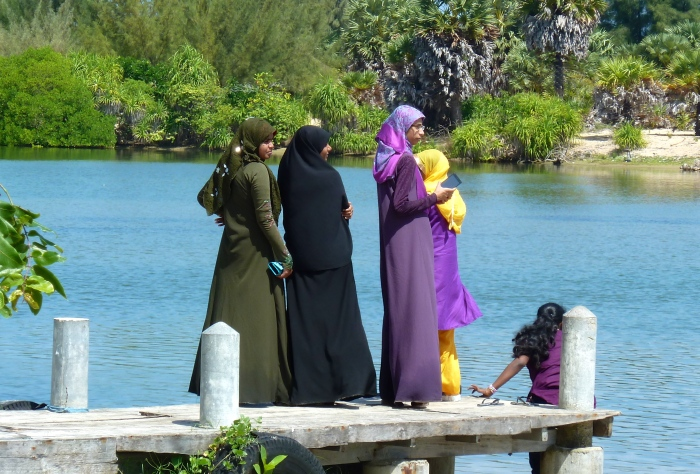 Local women waiting for a boat