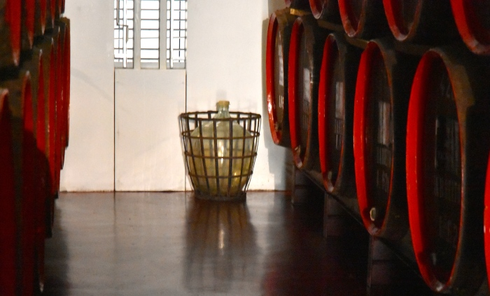 A Frasqueira wine in a demijohn